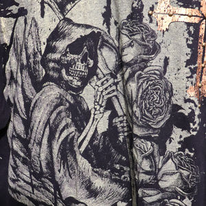 Grim Reaper Goth Gotic Skull Halloween Shirt L